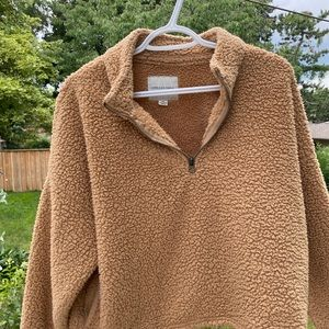 American Eagle Teddy Zip-Up Sweater